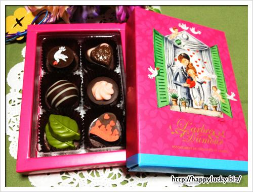 メリーチョコレート L'arble d'amour(ラルブルダムール) 中身