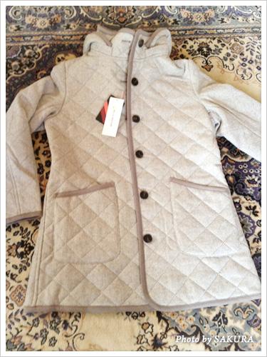 ベルメゾンオリジナルの「キルティングジャケット(グレー系ヘリンボン)」を買いました!
