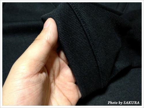 CanCam(キャンキャン)×UNIQLO(ユニクロ)コラボ Vネックチュニック(長袖)袖口
