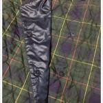ウォームイージーチェックショートスカート スナップ部分