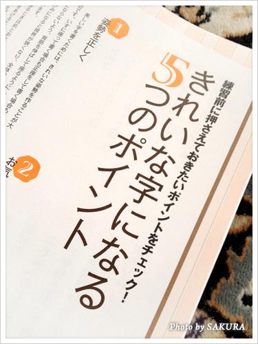 中塚翠涛「30日できれいな字が書けるペン字練習帳」 きれいな字になるための5つのポイント