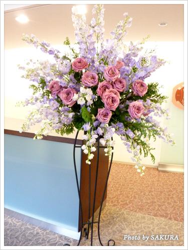 李家幽竹「2013年開運風水セミナー」受付前の花