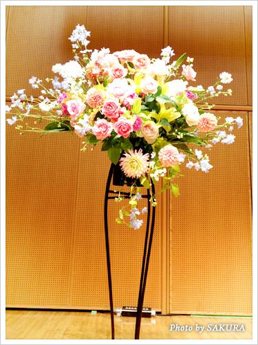 李家幽竹「2013年開運風水セミナー」ステージのお花 全体