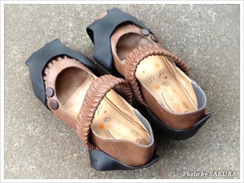 装着した靴