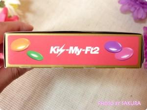 Kis‐My‐Ft2 セブンカラーズチョコレート 単品 外箱 サイド2