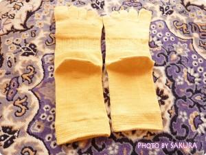 シルクパーティー「絹木綿5本指靴下」全体2