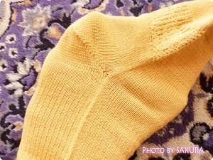 シルクパーティー「絹木綿5本指靴下」かかとがある