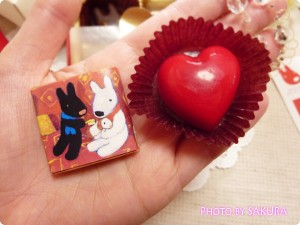 フランスの人気絵本「リサとガスパール(Gaspard et Lisa)」バレンタインチョコレート ハートとミルクチョコレート