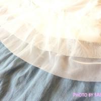 g.u.(ジーユー)「裾レースキャミチュニック」とマキシスカートのコーデ
