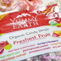 Yummy Earth(ヤミーアース) オーガニック キャンディードロップス パッケージ表アップ