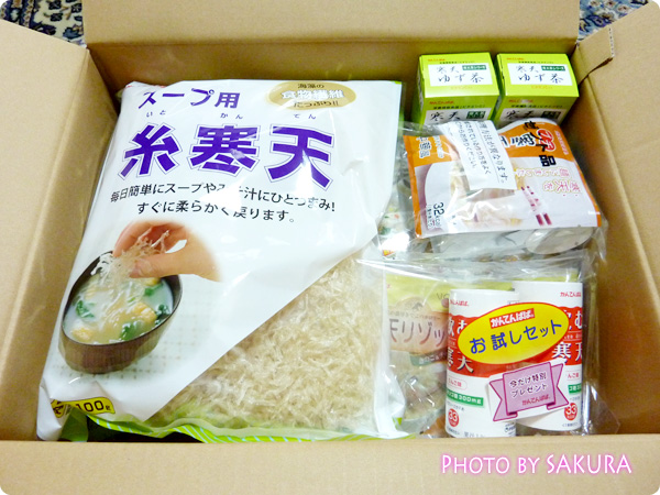 長野県の「かんてんぱぱ」から寒天商品をお取り寄せ