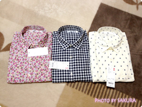 コットンローンプリントシャツ3種類
