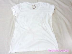 [UT]ユニクロ×LADURÉE(ラデュレ)コラボラッキーモチーフTシャツ後ろ全体