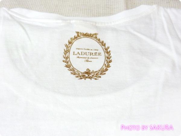 [UT]ユニクロ×LADURÉE(ラデュレ)コラボラッキーモチーフTシャツ バックプリント