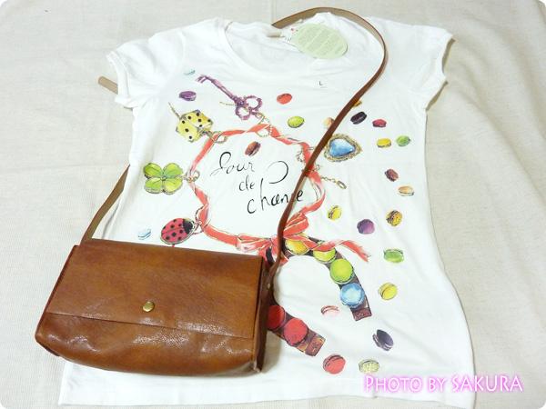 [UT]ユニクロ×LADURÉE(ラデュレ)コラボラッキーモチーフTシャツ+バッグ