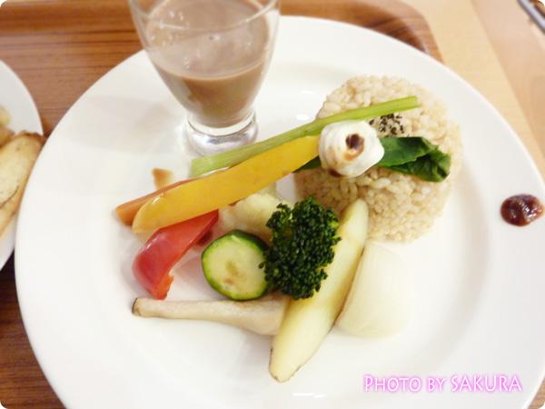 ベジパワープレートセット+グリーンソイチョコジュース (青汁+チョコ豆乳)