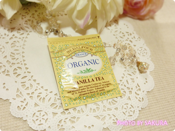 St. Dalfour, Organic, Vanilla Tea, 25 Tea Bags サンプル