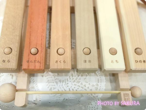 樹種の違いでドレミを奏でる不思議な木琴