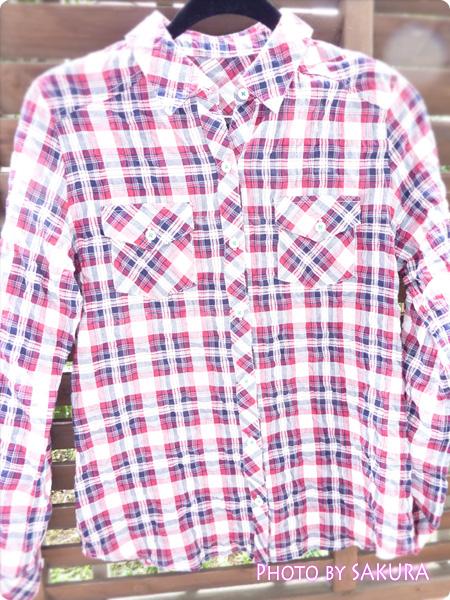 アーノルドパーマータイムレス(レディス) シャーリングチェックシャツ 全体