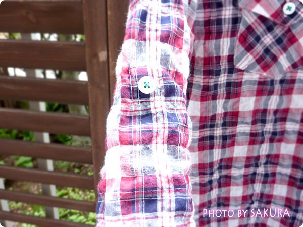 アーノルドパーマータイムレス(レディス) シャーリングチェックシャツ 袖ボタン