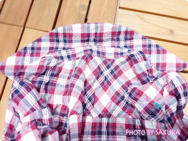 アーノルドパーマータイムレス(レディス) シャーリングチェックシャツ 襟の形が丸くラウンドしている