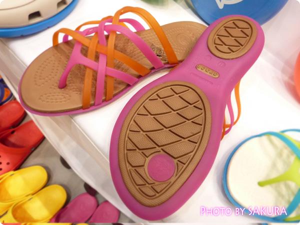 huarache flip-flop w(ワラチェ フリップフロップ ウィメン) Fuchsia / Bronze 靴底