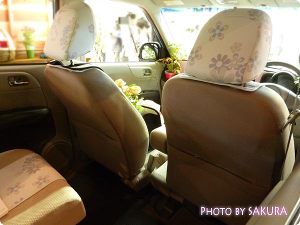 ホンダ「N-ONE G」国際バラとガーデングショウモデル 後部座席2