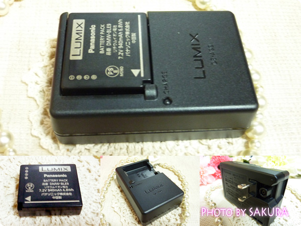 パナソニック「LUMIX DMC-GF5WA」バッテリーパック、バッテリーチャージャー