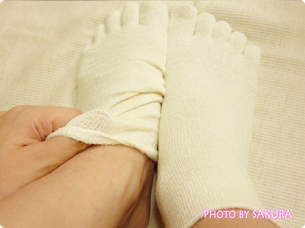 トゥシェ 日本製冷えとり内絹外綿ソックス【2足セット】 内絹外綿ソックス(キナリ)