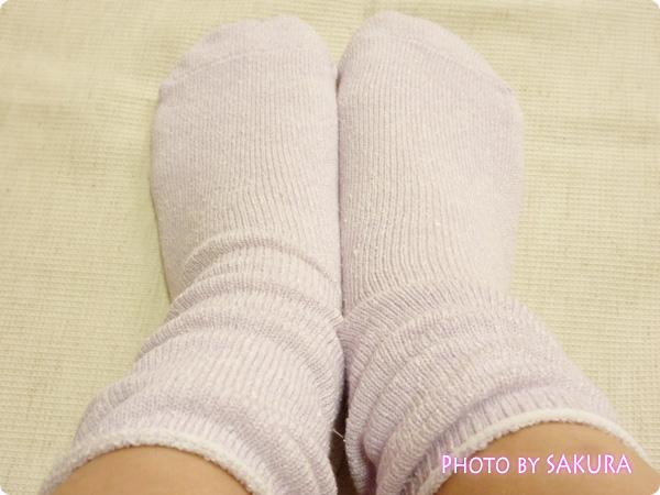トゥシェ 日本製冷えとり内絹外綿ソックス【2足セット】 先丸カバーソックス(ラベンダー)