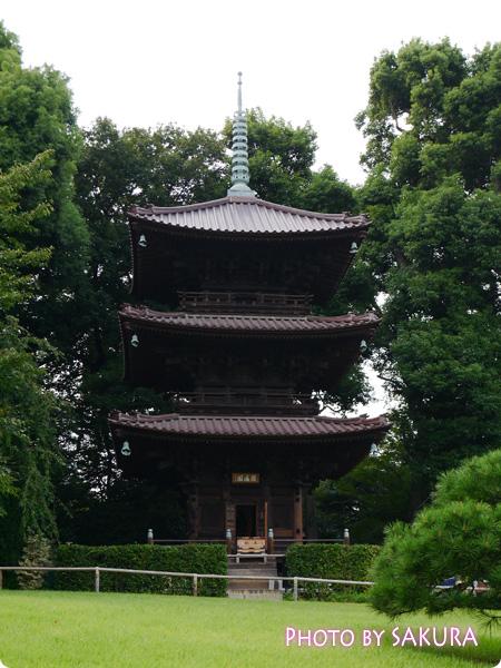 圓通閣(えんつうかく) 椿山荘三重塔