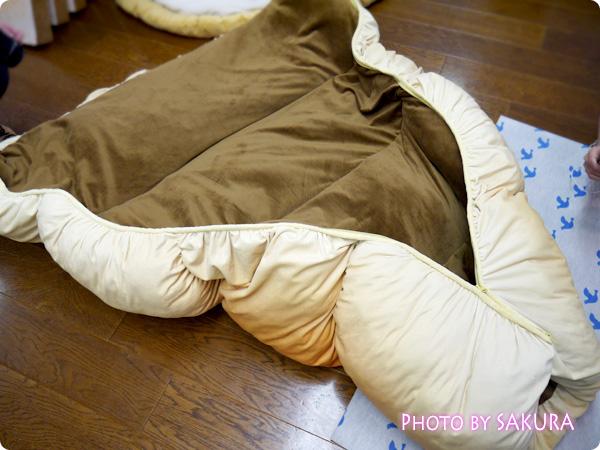 【FELISSIMO(フェリシモ)】 フェリシモのふんわりビッグパンクッション(4種) チョコゴロ寝 ふぁすたーで開閉