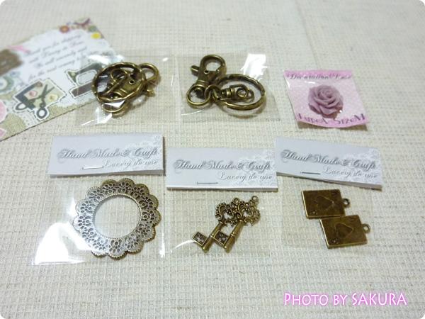 ハンドメイド・雑貨Lacery de Rose:カボション、トランプ、鍵モチーフなど