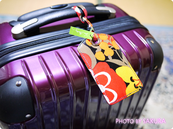 小型 スーツケース 機内持ち込み SサイズとLuggage Tag(ラゲージ・タグ)Bittersweet