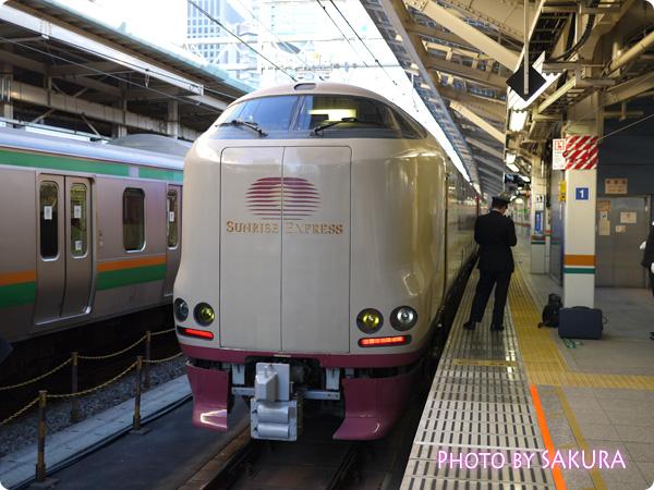 サンライズ出雲 東京駅にて