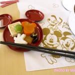 【おせち2014】ディズニーの可愛いミッキーフェイス取り皿・ミッキー箸「取り皿5枚&お箸5膳セット」