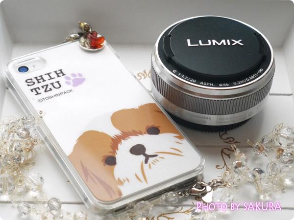 LUMIX G 20mm/F1.7 II ASPH. H-H020A-S [シルバー]とiPhone4Sでサイズ比較