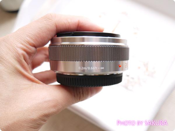 LUMIX G 20mm/F1.7 II ASPH. H-H020A-S [シルバー]厚さ