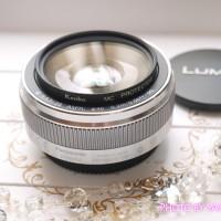LUMIX G 20mm/F1.7 II ASPH. H-H020A-S [シルバー]にKenko カメラ用フィルター MC プロテクター46mmつけてみた