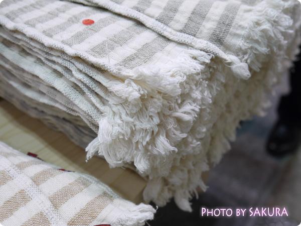 オーガニックコットン専門店「天衣無縫(てんいむほう)」アウトレットのタオル