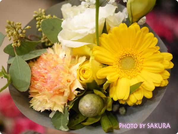 東京スカイツリー ソラマチ フラワーデコで購入したお花