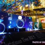 銀座ミキモト本店・ジャンボクリスマスツリー・イルミネーションは土台のジュエリーが綺麗!