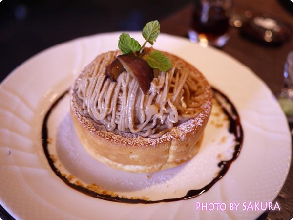 写真は2013年秋・期間限定栗のスフレパンケーキ