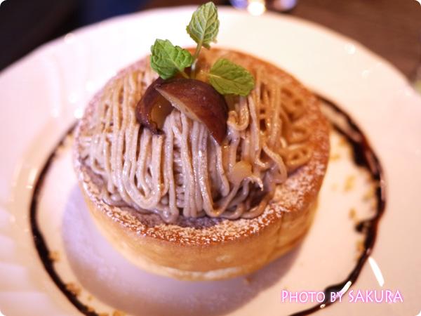 栗のスフレパンケーキ アップ