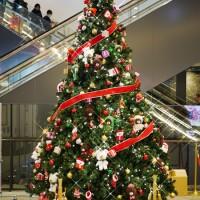 ジャッキーのハートフル・クリスマスinスカイツリーソラマチ 1階エスカレーター脇のクリスマスツリー