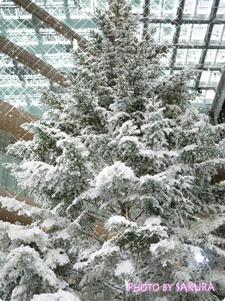 KITTE(キッテ)クリスマスツリー2013 1階から見上げた図