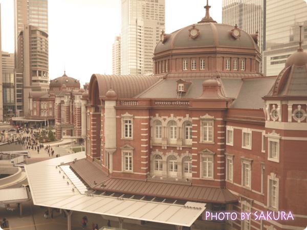 旧東京中央郵便局長室から見る東京駅