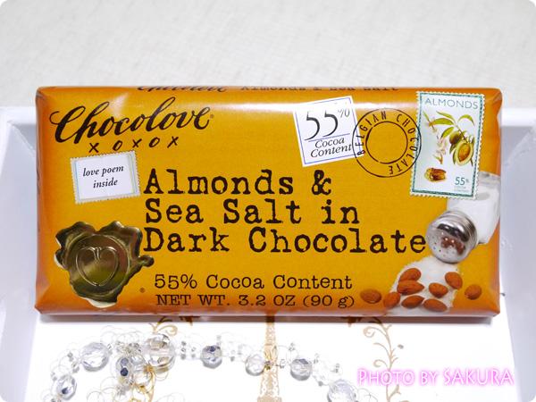 Chocolove, Almonds & Sea Salt in Dark Chocolate, 3.2 oz (90 g)
