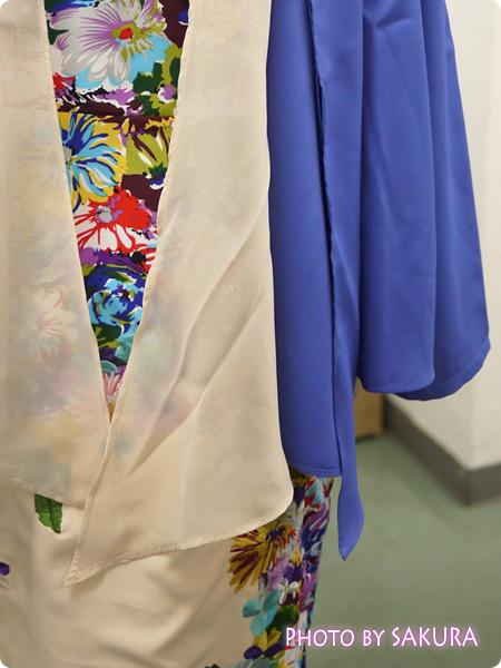 重ね着風ジョーゼットジャケット 裾はジョーゼットとシフォンの重ね着風