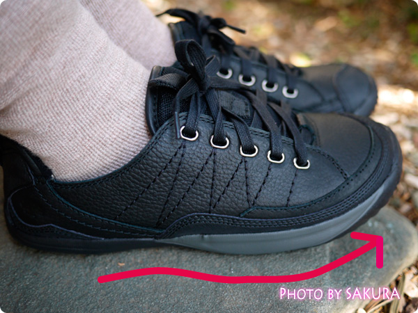 Kalso Earth Shoes(カルソーアースシューズ)   特徴的なソール 『ネガティブヒール